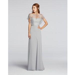 NWT Jenny Packman Bridesmaid Maxi Dress Gray
